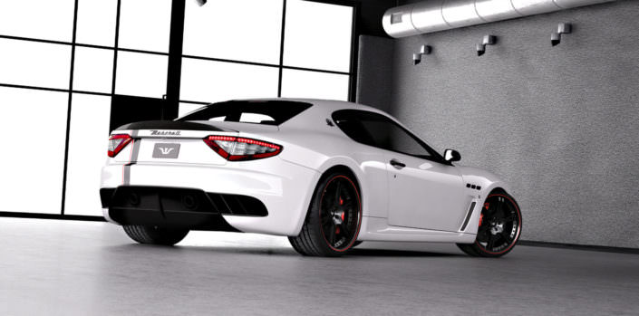 black coated 21 inch wheels 6sporz on whit maserati mc stradale