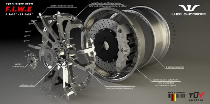 indivdual fiwe wheel for maserati 20 and 21 inch