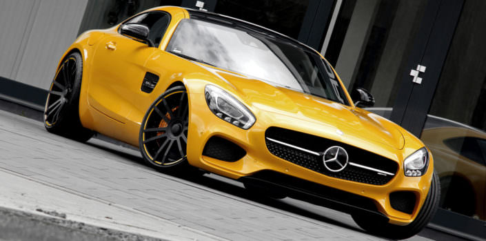 mercedes amg gts with ultra concave fiwe wheels in 21 inches