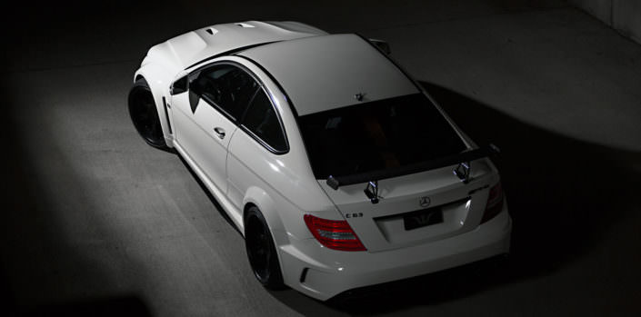 mercedes amg c63 black series top view with 20 inch 6sporz wheels