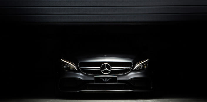 mercedes c63amg coupe front view dark background wheelsandmore tuning