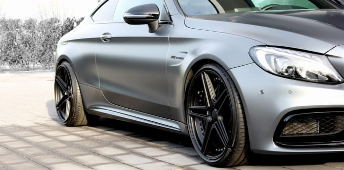 black coated fivestar wheels on mercedes c63amg coupe