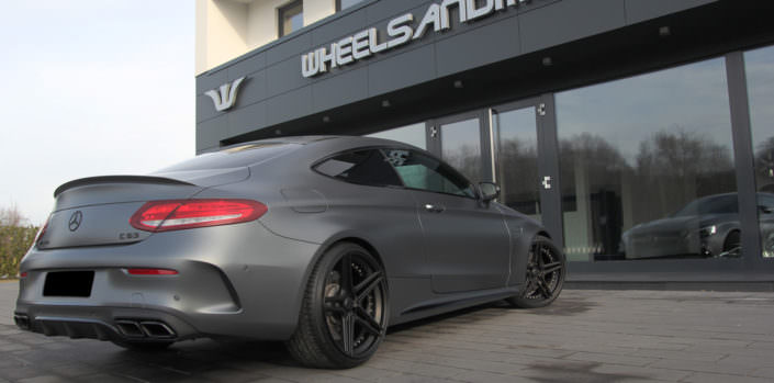mercedes c63 amg with 20 inch fivestar wheels an power upgrade