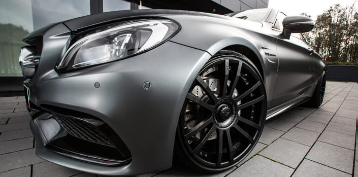 fiwe wheels 10x20 on grey mercedes c63amg coupe