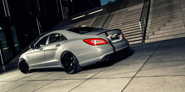 night vision cls63amg matte grey with 20 inch tuning wheels