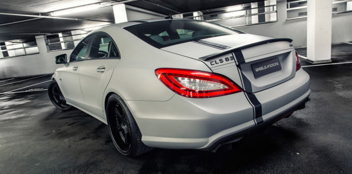 rear side view mercedes cls 63 amg wheelsandmore tuning with 792hp and 20 inch wheels