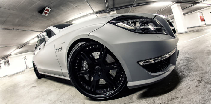 side view matte grey cls63amg wheelsandmore tuning