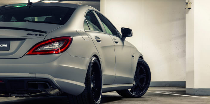 nice shape view - wheelsa dn exhaust on wheelsandmore tuning cls 63 amg