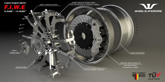 tuning wheel fiwe concave mercedes e63amg