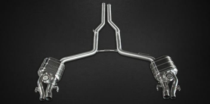 stainless steel valve flap exhaust mercedes e63amg