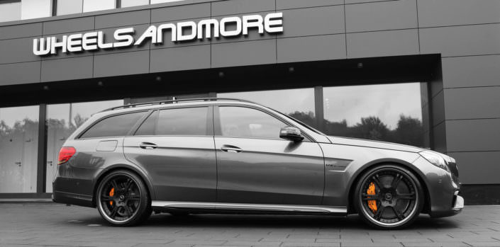 e63amg station wagon with 20 inch 6sporz wheels