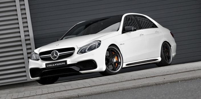 e63amg sedan with 6sporz wheels 9,0x20 + 10,5x20 inches