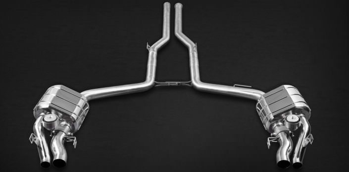 stainless steel 1.4828 exhaust with valve flaps for mercedes e212 63amg