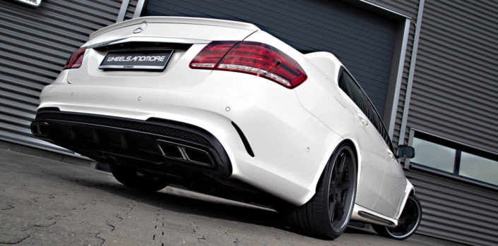 e63amg with 20 inch 6sporz wheels and suspesnion lowering