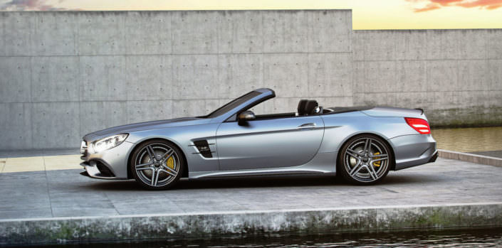 side view matte grey sl63amg with fivestar tuning wheels