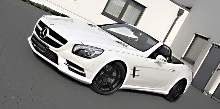 white sl350 with 20 inch 6sporz wheels