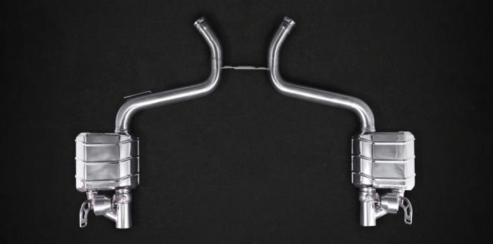 stainless steel exhaust mercedes sl63 amg