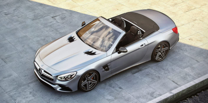 mercedes sl63amg grey with ultra concave fivestar hybrid wheels