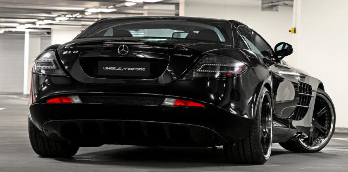 rear viwe mclaren mercedes slr tuning by wheelsandmore