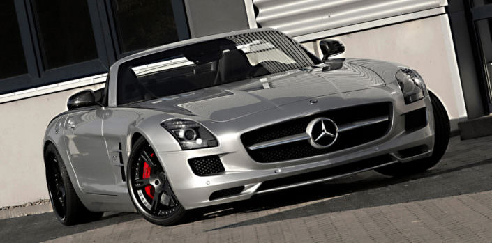 front view mercedes sls amg silver with black 21 inch wheels 6sporz
