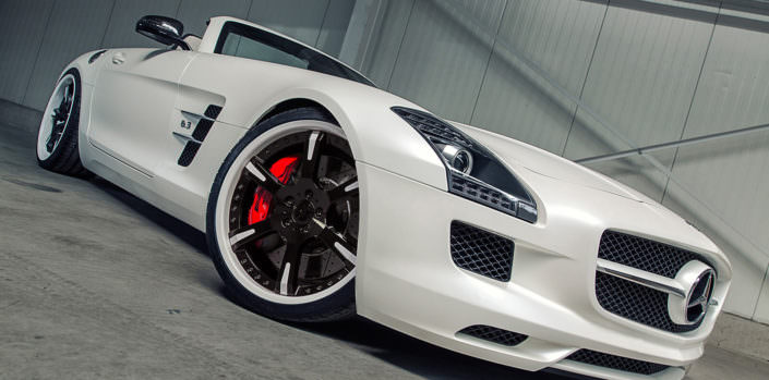perfect tuning wheel 20 and 21 inch 6sporz on mercedes sls amg roadster