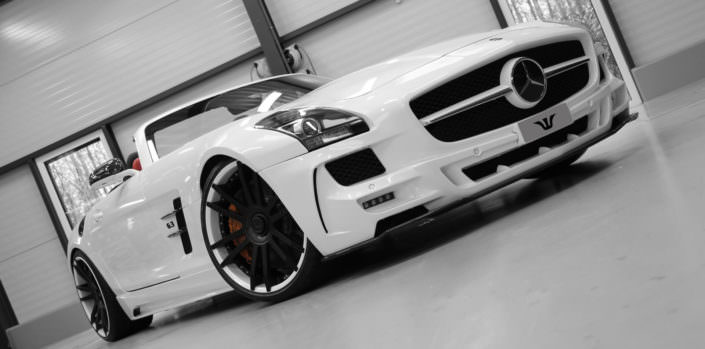 mercedes sls amg black series with 21 inch fiwe concave forged wheels