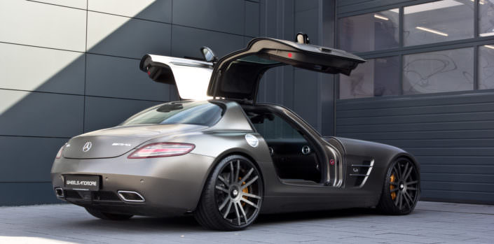 wide wheels fat tunign mercedes amg sls