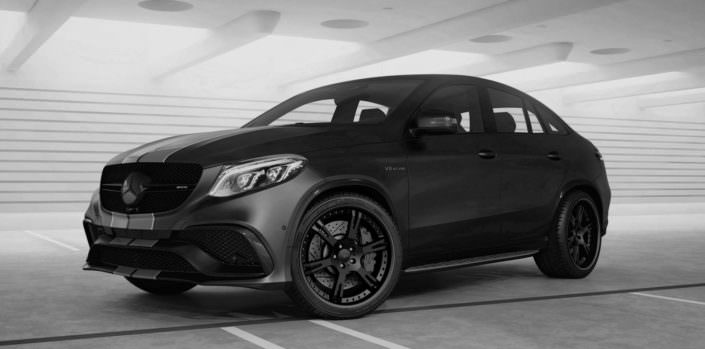 dark black mercedes gle 63 amg with 6sporz wheels