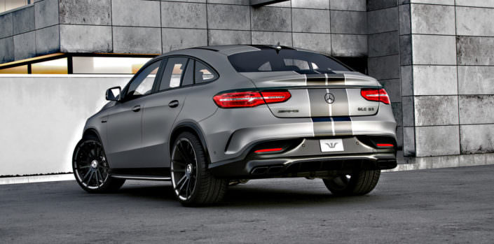 rear view mercedes gle63amg with 22 inch fiwe wheels and power upgrade up to 792hp