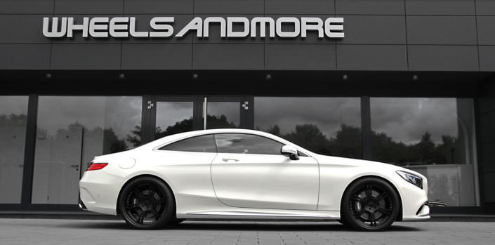 s63amg coupe with black 6sporz wheels in 22 inches