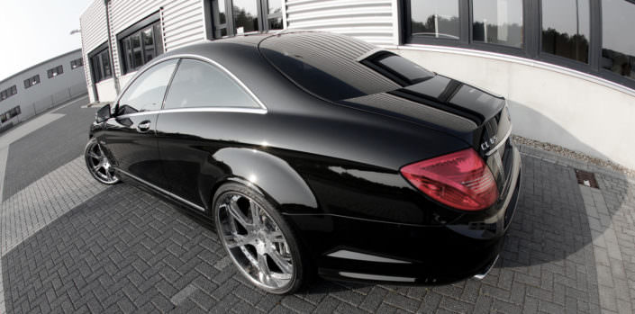 mercedes cl65amg w221 with 22 inch high glossy 6sporz wheels