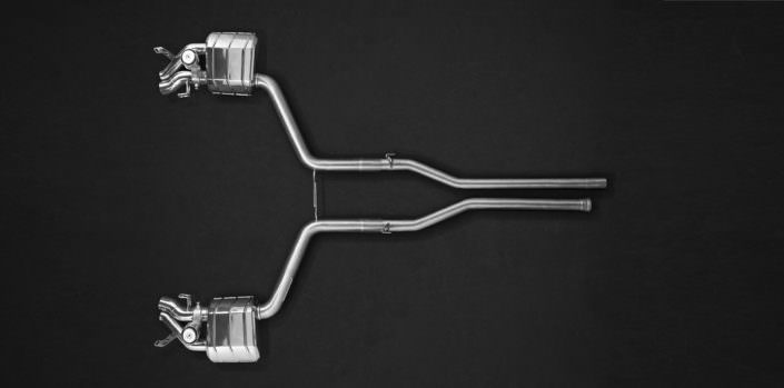 exhaust for mercedes s63 made of 1.4828 stainless steel