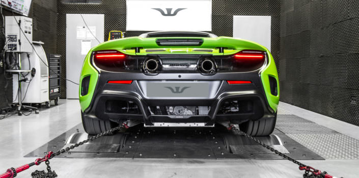 ecu tuning mclaren 675lt on dyno
