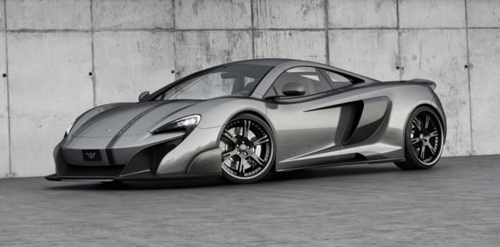 black 20 / 21 inch 6sporz wheels on grey mclaren 675lt