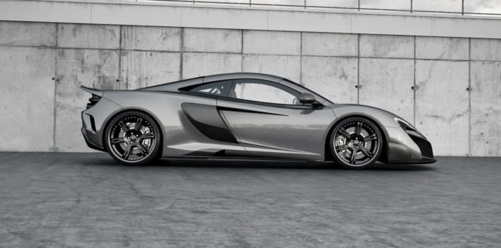 side view 675lt mclaren with tuning components from wheelsanmore such as wheels staggered