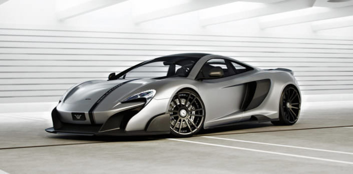 mclaren 675lt with ultra concave tuning wheels fiwe in black 20/21 inches