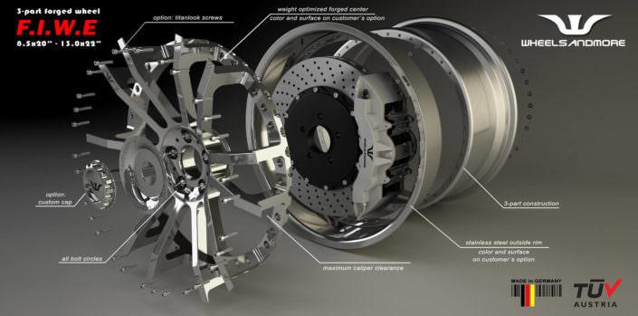 concave fiwe wheels for mclaren 675lt tuning