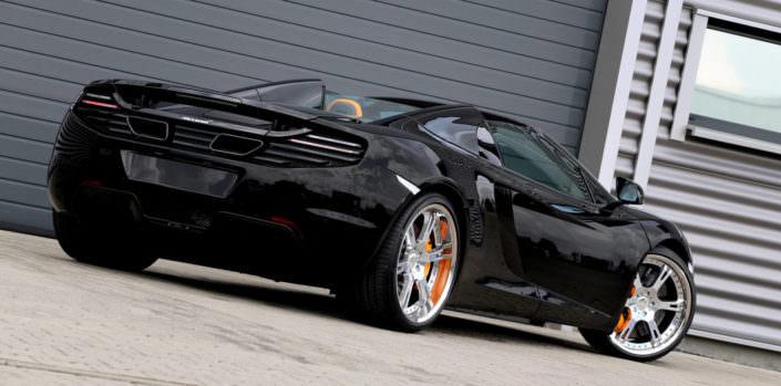 nice view - wide 6sporz wheels on mclaren mp4-12c black