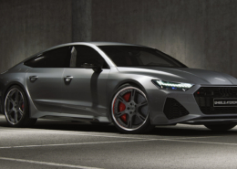 RS7 C8 in front of stairs with 22 inch tuning wheels