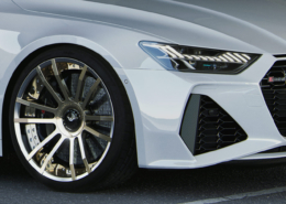 Audi white sideview front RS7 C8 rims FIWE