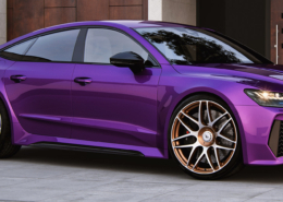 Audi RS7 C8 with wheels and power upgrade sidewall